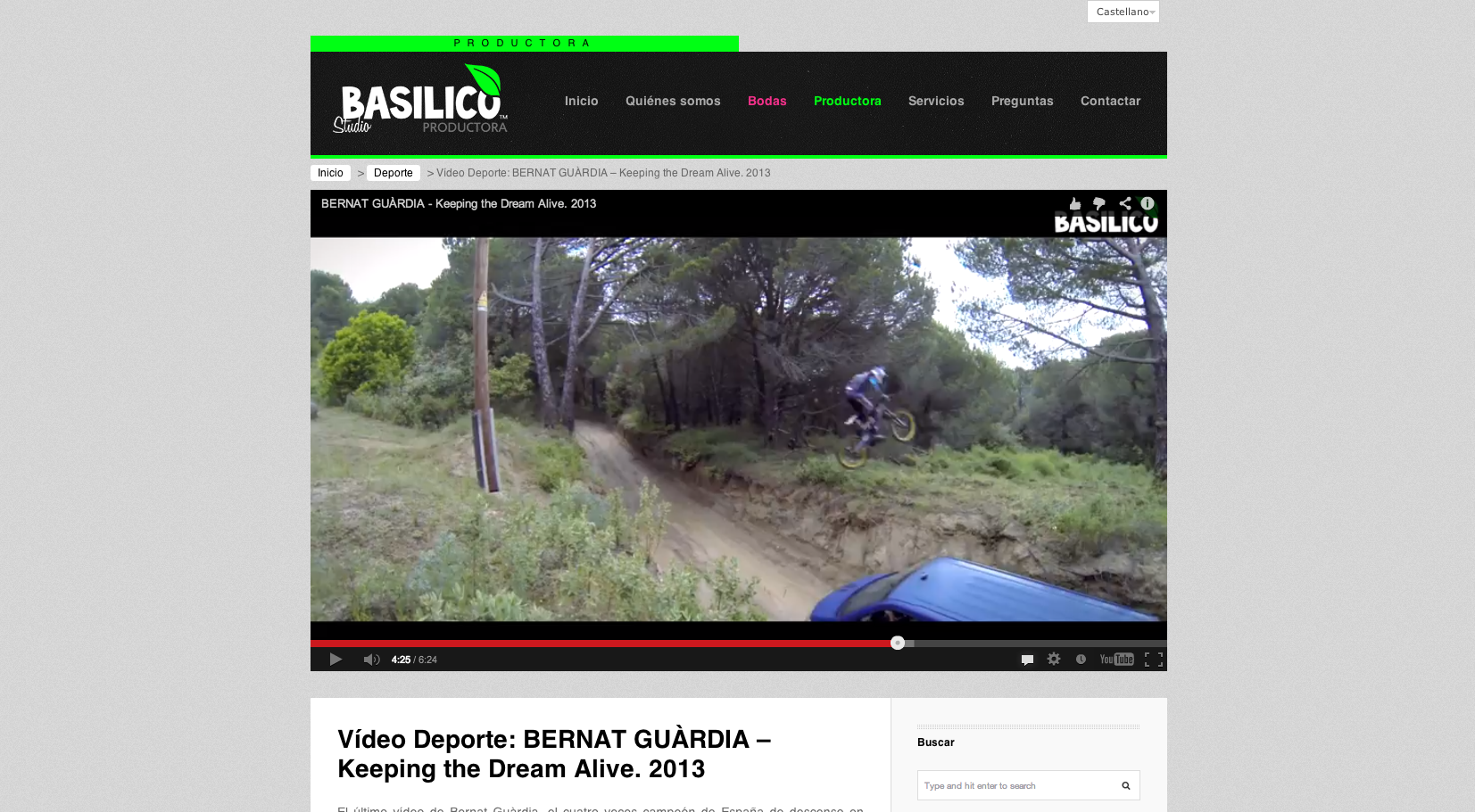 Vídeo Deporte: BERNAT GUÀRDIA - Keeping the Dream Alive. 2013 - BasilicoStudio
